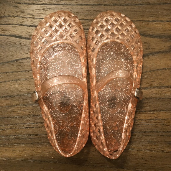 Old Navy Other - Old Navy Pink Glitter Jelly Sandals